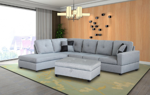 Sectional, living room, chaise