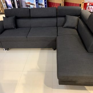 Silverstone Dark Grey Sectional, Living Room Furniture