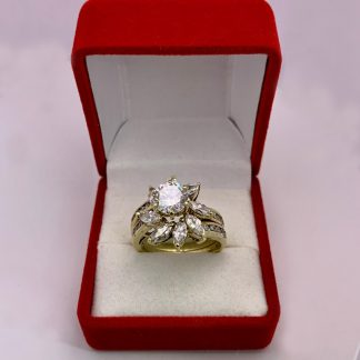 engagement ring, wedding set